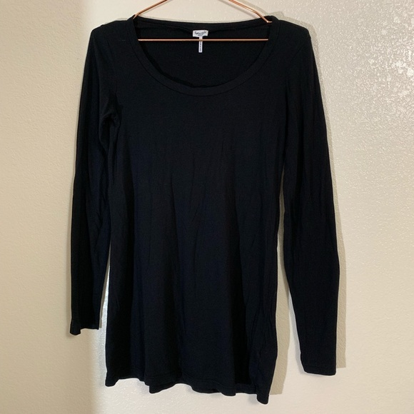 Splendid Tops - Splendid | Black Long Sleeve Basic Black Tunic Tee